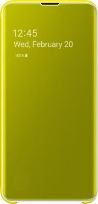 Чехол (флип-кейс) Samsung для Samsung Galaxy S10e Clear View Cover желтый (EF-ZG970CYEGRU) флип кейс euro line vivid для philips s309 желтый