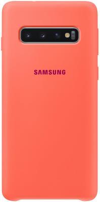 Чехол (клип-кейс) Samsung для Samsung Galaxy S10 Silicone Cover розовый (EF-PG973THEGRU) клип кейс samsung dual layer ef pj330 для galaxy j3 2017 голубой