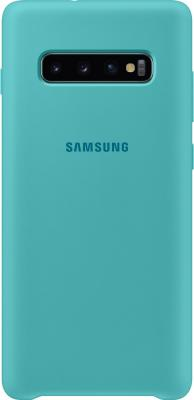 Чехол (клип-кейс) Samsung для Samsung Galaxy S10+ Silicone Cover зеленый (EF-PG975TGEGRU) клип кейс samsung silicone для samsung galaxy s10 plus [ef pg975tbegru] черный