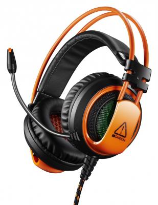 Игровая гарнитура проводная Canyon CND-SGHS5 черный оранжевый гарнитура canyon cns chs01bo черный оранжевый