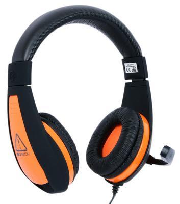 Игровая гарнитура проводная Canyon CND-SGHS1 черный оранжевый гарнитура canyon cns chs01bo черный оранжевый