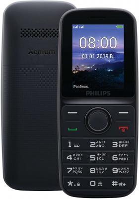 Мобильный телефон Philips E109 черный philips philips dctg1201 автономный цифровой беспроводной телефон беспроводной телефон стационарный телефон стационарный телефон синий