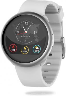 Смарт часы MyKronoz ZeRound2 цвет серебро/белый