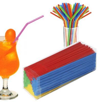 Одноразовые трубочки для коктейля, КОМПЛЕКТ 250 шт., L=240 мм, d=5 мм, гофрированные, разноцветные, 1502-0538 трубочки для коктейлей фарт с изгибом гофрированные 260 х 6 мм 80 шт