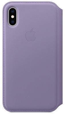 Чехол-книжка Apple Leather Folio для iPhone XS лиловый MVF92ZM/A чехол книжка apple folio для apple iphone xs розовый