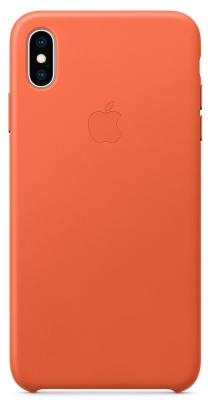 Накладка Apple Leather Case для iPhone XS Max тёплый закат MVFY2ZM/A накладка apple leather case для iphone xs золотисто коричневый mrwp2zm a