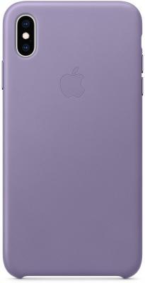 Накладка Apple Leather Case для iPhone XS Max лиловый MVH02ZM/A накладка apple leather case для iphone xs золотисто коричневый mrwp2zm a