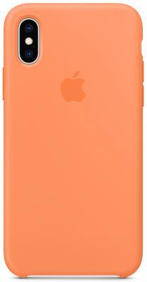 Накладка Apple Silicone Case для iPhone XS свежая папайя MVF22ZM/A цена и фото