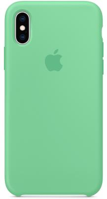 Накладка Apple Silicone Case для iPhone XS мятный MVF52ZM/A цена и фото