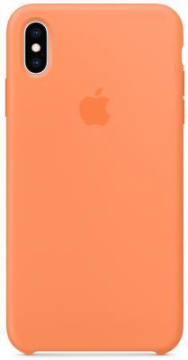 Накладка Apple Silicone Case для iPhone XS Max свежая папайя MVF72ZM/A накладка apple silicone case lavender gray для iphone xs max серый mtfh2zm a