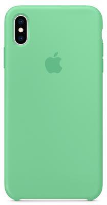 Накладка Apple Silicone Case для iPhone XS Max мятный MVF82ZM/A цена и фото