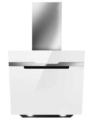 Кухонный эксклюзив.Пристенная наклонная, 60 см, 1200 куб.м., сенсорное управление, белое стекло