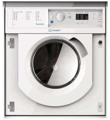Встраиваемые стиральные машины Indesit/ 60х54х82, Загрузка 7 кг, 1200 об/мин, 16 программ, быстрая стирка, таймер