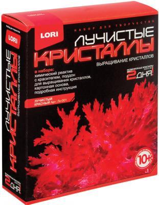 Набор для изготовления лучистых кристаллов Lori Красный кристалл от 10 лет набор для выращивания кристаллов lori лучистый кристалл