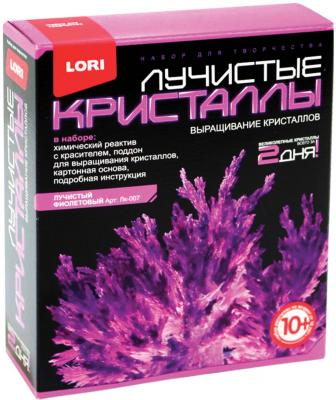 Набор для изготовления лучистых кристаллов Lori Фиолетовый кристалл от 10 лет