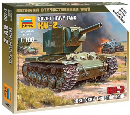 Танк ЗВЕЗДА Тяжелый советский КВ-2 1:100 хаки