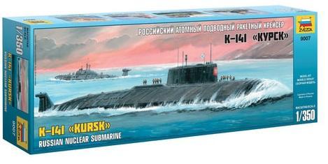 Подводная лодка ЗВЕЗДА Подводная лодка атомная российская К-141 Курск 1:350 подводная камера aqua vu micro plus dvr