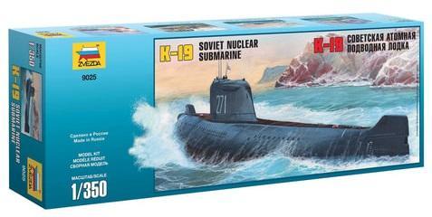 Подводная лодка ЗВЕЗДА Подводная лодка атомная советская К-19 1:350 подводная камера aqua vu micro plus dvr