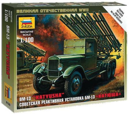 БМ-13 ЗВЕЗДА Миномет реактивный гвардейский БМ-13 Катюша 1:100