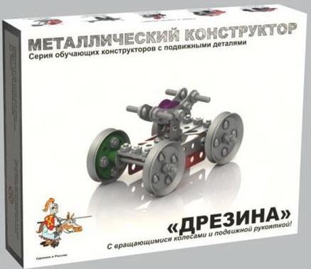 Металлический конструктор Десятое королевство Дрезина 116 элементов конструктор десятое королевство теремок 27 элементов