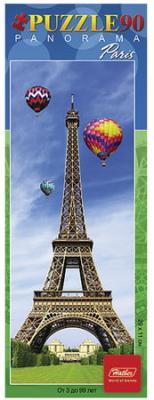 Пазл-панорама, 90 элементов, А4, Эйфелева башня, 290х110 мм, 90ПЗ4 12840, U166338 пазл 73 5 x 48 8 1000 элементов printio эйфелева башня
