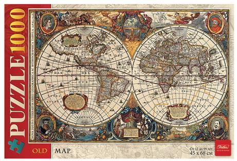 Пазл Hatber Старинная карта мира 1000 элементов античная карта мира пазл 1000 элементов