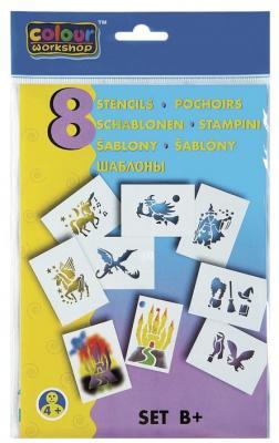 Трафарет для рисования воздушными фломастерами CENTROPEN B+, сказочные мотивы, 8 штук, 9996/B трафарет для рисования centropen d буквы и цифры 8 листов