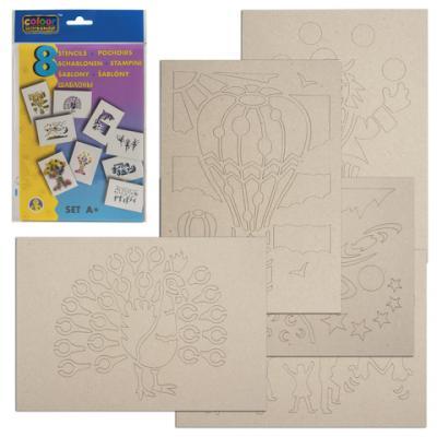 Трафарет для рисования воздушными фломастерами CENTROPEN А+, праздник, 8 штук, 9996/A трафарет для рисования centropen d буквы и цифры 8 листов