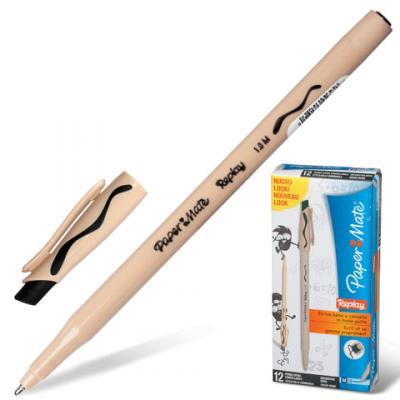 Ручка шариковая стираемая Paper Mate Replay черный 1 мм шариковая ручка автоматическая paper mate replay синий 1 мм