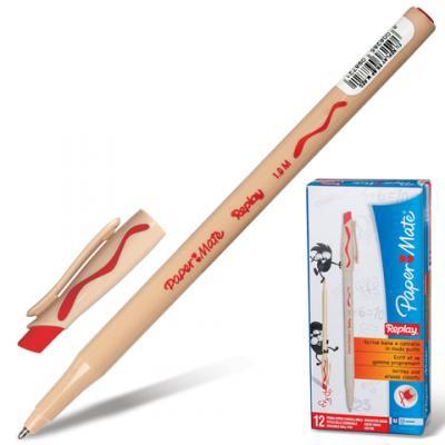 Ручка шариковая стираемая Paper Mate Replay красный 1 мм шариковая ручка автоматическая paper mate replay синий 1 мм