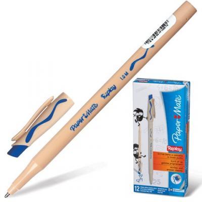 Ручка шариковая стираемая Paper Mate Replay синий 1 мм шариковая ручка автоматическая paper mate replay синий 1 мм
