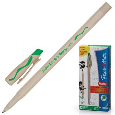 Ручка шариковая стираемая Paper Mate Replay зеленый 1 мм шариковая ручка автоматическая paper mate replay синий 1 мм