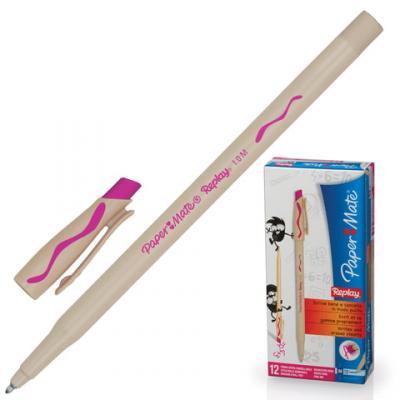 Ручка шариковая стираемая Paper Mate Replay розовый 1 мм шариковая ручка автоматическая paper mate replay синий 1 мм