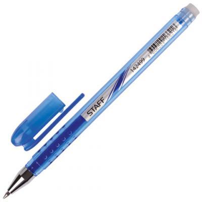 Ручка гелевая гелевая STAFF стираемая синий 0.38 мм