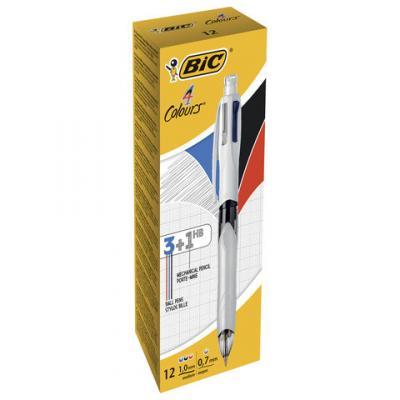 Ручка шариковая автоматическая BIC 4Colours 3+1HB ассорти 0.32 мм ручка шариковая автоматическая bic 4 colours ассорти 0 32 мм