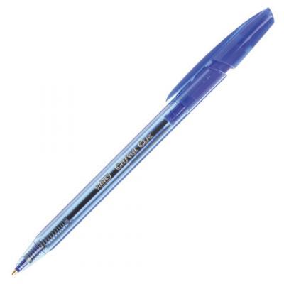 Ручка шариковая шариковая BIC Cristal Clic синий 0.32 мм ручка шариковая автоматическая bic 4 colours ассорти 0 32 мм
