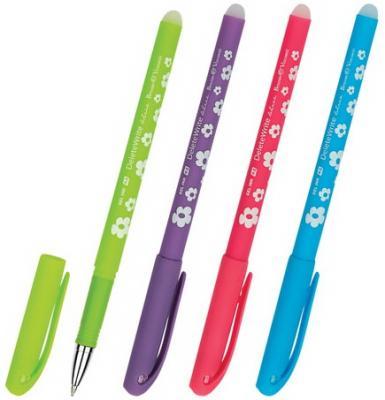 Ручка стираемая гелевая BRUNO VISCONTI, Цветочки, корпус ассорти, узел 0,5 мм, линия 0,4 мм, синяя, 20-0202