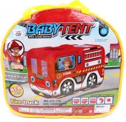 Палатка игровая Пожарная машина, размер 128*68*85см, сумка на молнии цена