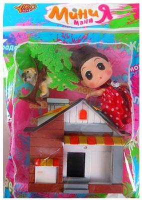Купить Кукла 9 см с питомцем, 2 аксессуара, в ассорт., блистер, Наша Игрушка, пластмасса, Классические куклы и пупсы