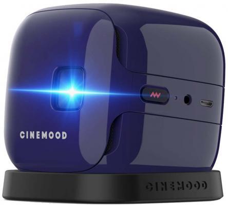Фото - Проектор CINEMOOD CNMD0016VI 640х480 35 люмен 1000:1 фиолетовый portable projector cinemood диакубик cnmd0016le 3m с карточкой подписки на 3 месяца dkbk3m