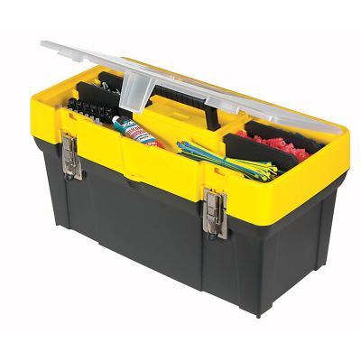 """Stanley ящик для инструмента с органайзером в крышке пластмассовый (19061) 19"""" / 49,3 х 25,6 х 24,8с ящик для инструментов stanley со съемным органайзером"""