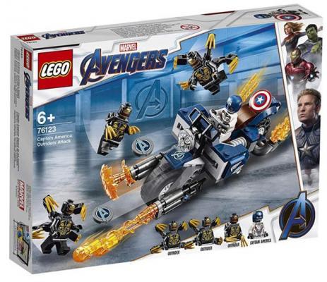 Купить Конструктор LEGO Капитан Америка: Атака Аутрайдеров 167 элементов, Конструкторы