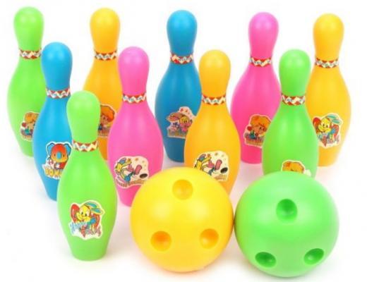 Набор для игры в боулинг 13 см, 2 мяча, 10 кеглей набор для игры в боулинг dolu cute bowling set