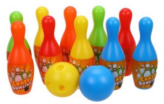 Набор для игры в боулинг 16 см, 2 мяча, 10 кеглей
