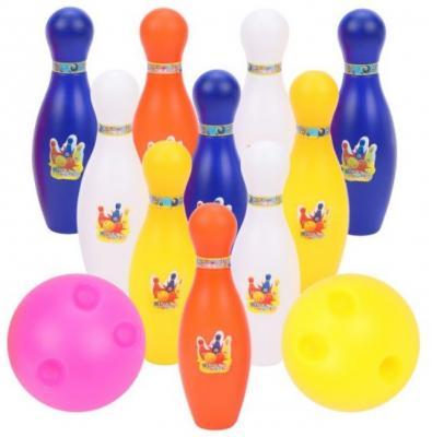 Набор для игры в боулинг 15 см, 2 мяча, 10 кеглей набор для игры в боулинг dolu cute bowling set