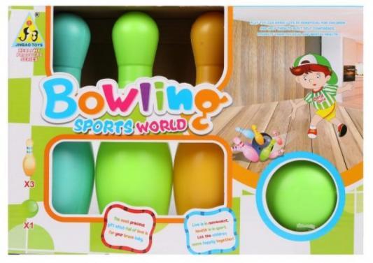 Набор для игры в боулинг 19 см, 1 мяч, 3 кегли набор для игры в боулинг dolu cute bowling set