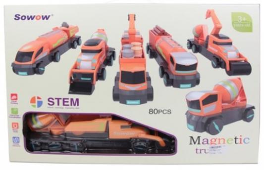 Магнитный конструктор Наша Игрушка Строительная техника 80 элементов недорого