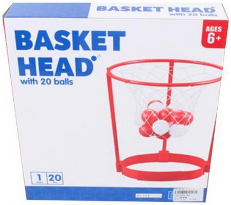 Купить Набор для игры в баскетбол, корзина 31 см, фиксатор на голову, мячи 20 шт., коробка, Наша Игрушка, унисекс, Спортивные товары