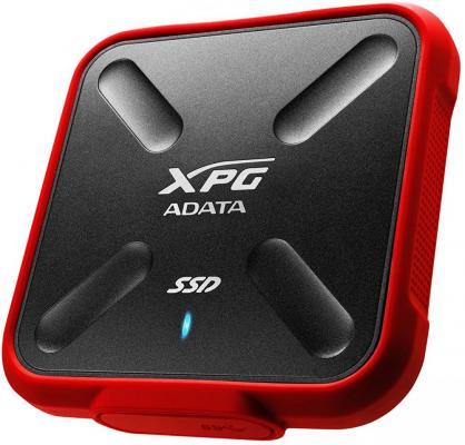 Твердотельный диск 1TB A-DATA SD700X, External, USB 3.1, [R/W -440/430 MB/s] 3D-NAND, красный/черный твердотельный диск 256gb a data sd600 external usb 3 1 [r w 440 430 mb s] 3d nand черный