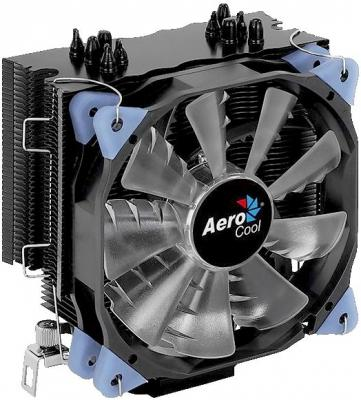Фото - Кулер CPU Aerocool Verkho 5 Dark (универсальный, 150W, 15-27 dB, 800-2800 rpm, 120мм, 4pin, медь+алюминий) RTL блок питания accord atx 1000w gold acc 1000w 80g 80 gold 24 8 4 4pin apfc 140mm fan 7xsata rtl
